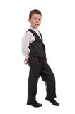 Business boy on white Stock Photo