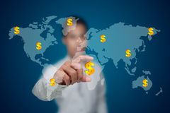Business with the bracelets. Business with the bracelets from all over the world Stock Photo