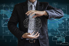 Business Brain Control Stock Photo