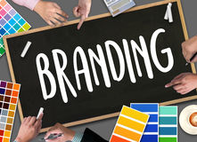 Business Branding , Branding word , Brand Building concept , Bus Royalty Free Stock Photography