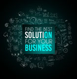 Business Break concept with Doodle design style :. Finding solution, brainstorming, creative thinking. Modern style illustration for web banners, brochure and Royalty Free Stock Photos