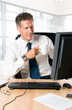 Business break at work Stock Photos