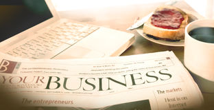 Business breakfast stock images