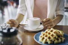 Business breakfast Royalty Free Stock Image