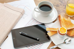 Business breakfast Royalty Free Stock Photos