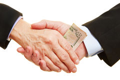 Business bribery and corruption Stock Image