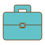 Business briefcase accesorie isolated icon. Stock Image