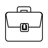 Business briefcase accesories isolated icon. Stock Photo