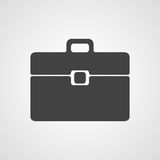 Business briefcase or bag vector icon Royalty Free Stock Photography