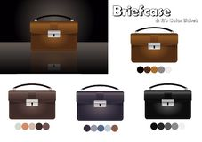 Business briefcase. black, breif, case, clipping, commerce, court, dealing, holder, isolated, kit, legal, luggage,vector design stock illustration