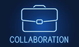Business Briefcase Confidential Growth Collaboration Concept Stock Image