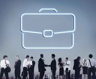 Business Briefcase Confidential Growth Collaboration Concept. Business People Discussing Growth Collaboration Stock Photos