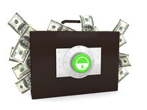 Business briefcase. This is a 3D rendered picture Royalty Free Stock Images