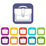 Business briefcase icons set Royalty Free Stock Photo