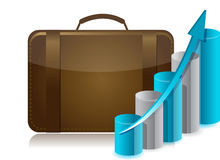 Business briefcase illustration design Royalty Free Stock Photo