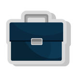 Business briefcase isolated flat icon. Royalty Free Stock Photography