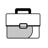 Business briefcase isolated flat icon. Royalty Free Stock Photos