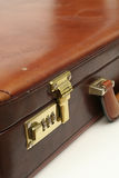 Business Briefcase Locked. Business Leather Briefcase Stock Photography