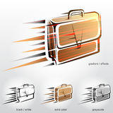 Business briefcase in motion. Royalty Free Stock Photography