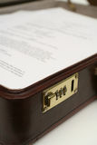 Business Briefcase Papers Royalty Free Stock Photo