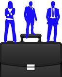 Business briefcase vector Royalty Free Stock Image