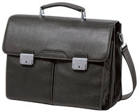 Business Briefcase on white + clipping path Royalty Free Stock Photos