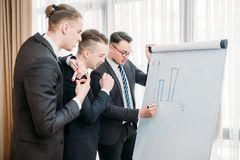 Business briefing visualization flip chart office royalty free stock photos