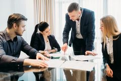 Business Briefing Leadership Boss Team Board Room Royalty Free Stock Photos