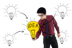 Business bright idea Stock Photography