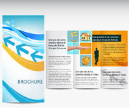 Business brochure. Professional business catalog template or corporate brochure design with inner pages Royalty Free Stock Photo