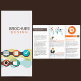 Business brochure. Design with icons Royalty Free Stock Image
