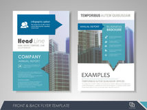 Business brochure annual report Stock Photo