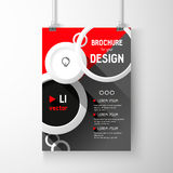 Business brochure background. Circles Layer template , vector. Business brochure background. Layer template,3D vector illustration Stock Images