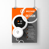 Business brochure background. Circles Layer template , vector. Business brochure background. Layer template,3D vector illustration Stock Photography