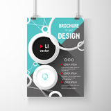 Business brochure background. Circles Layer template , vector Royalty Free Stock Images