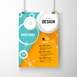 Business brochure background. Circles Layer template , vector Royalty Free Stock Photography