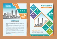 Business Brochure Background Design Template, Layout, Poster, Magazine, Annual Report, Book, Booklet with Building Image. Size vector illustration