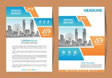 Business Brochure Background Design Template, Layout, Poster, Magazine, Annual Report, Book, Booklet with Building Image. Size. Vector Design illustration stock illustration