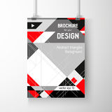 Business brochure background. Layer template , vector Royalty Free Stock Images