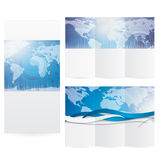 Business brochure blue design illustration Royalty Free Stock Photography