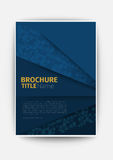 Business brochure blue Modern Vector abstract brochure Royalty Free Stock Photography