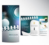 Business Brochure. Blue Business Brochure template design Royalty Free Stock Photography