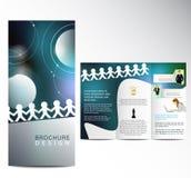 Business Brochure. Blue Business Brochure template design Vector Illustration