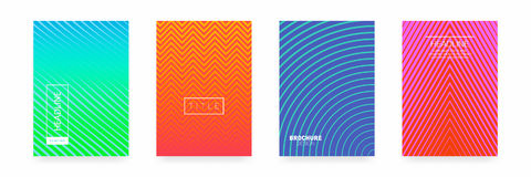 Business brochure cover design. Abstract geometric template. Set of minimal covers design Royalty Free Stock Image