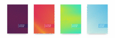 Business brochure cover design. Abstract geometric template. Set of minimal covers design Royalty Free Stock Photo