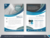 Business brochure cover design Stock Photography