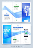 Business brochure and cover design layout template. Vector illus Stock Photo
