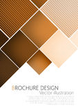 Business brochure cover design template. Brown background Vector Royalty Free Stock Photos