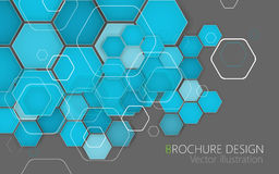Business brochure cover design template. Vector Illustration Stock Images