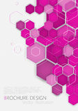 Business brochure cover design template. Vector. Pink Background Royalty Free Stock Photography